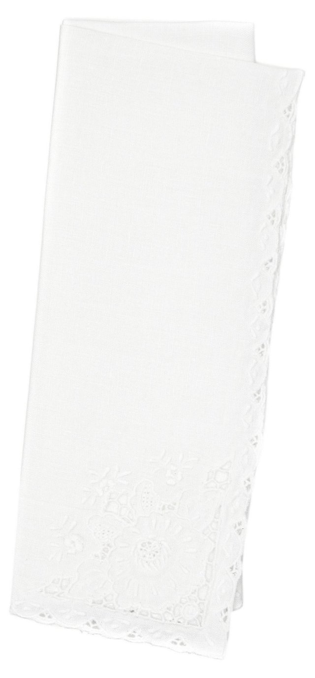 S/12 Embroidered Napkins