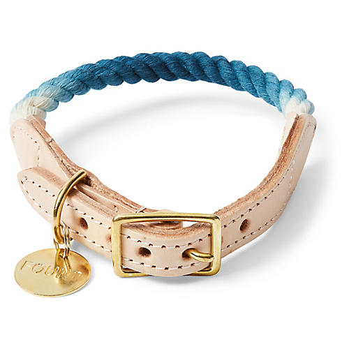Chester Pet Collar, Indigo