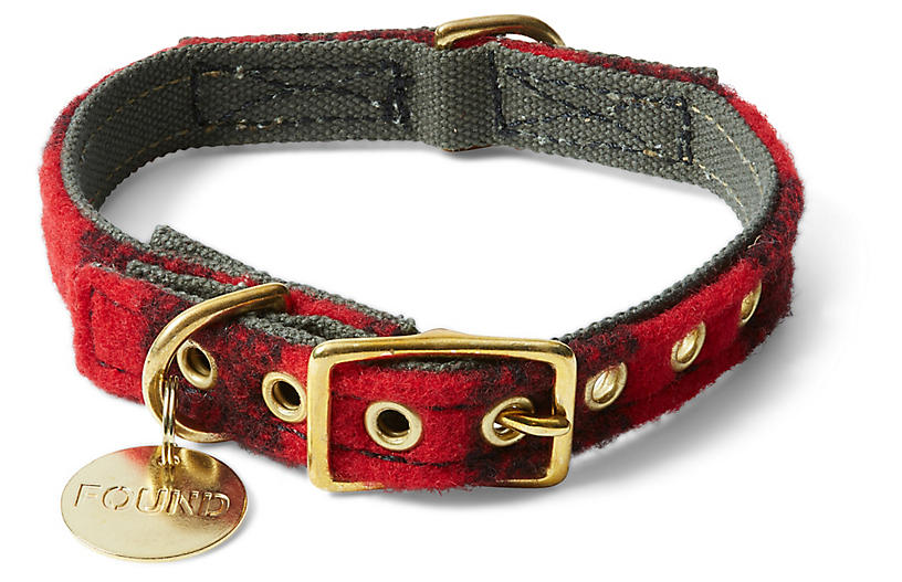 Buster Pet Collar - Red/Black
