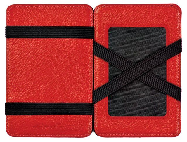 Leather Magic Wallet, Red