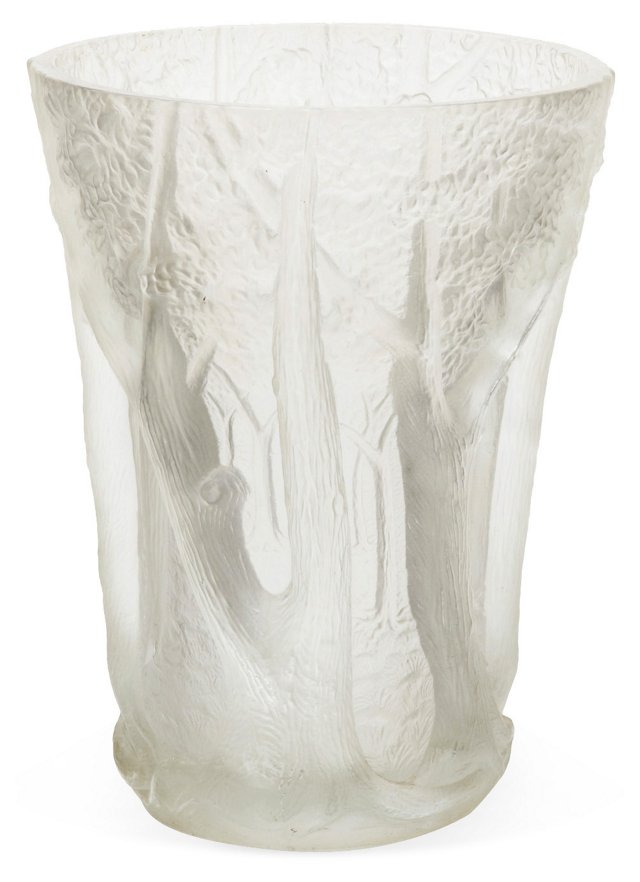 Frosted Glass Forest Vase