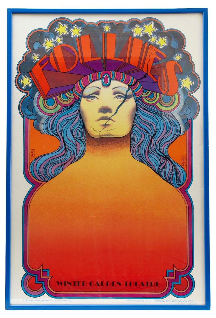 Original 1970 Follies Broadway Poster