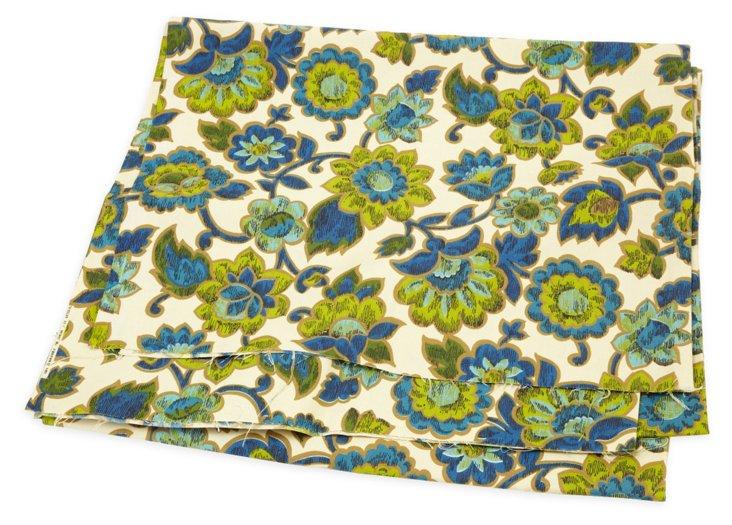 1960s Floral Print Cotton, 4 Yds.