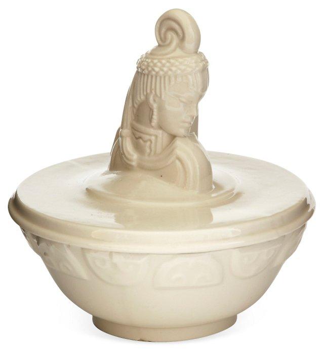 Porcelain Bowl w/Female Head