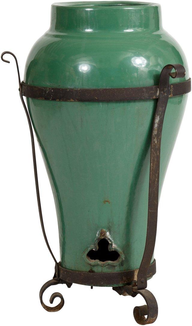 1920s Ceramic Oil Jar