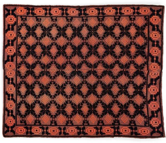 Crewelwork Wool Rug