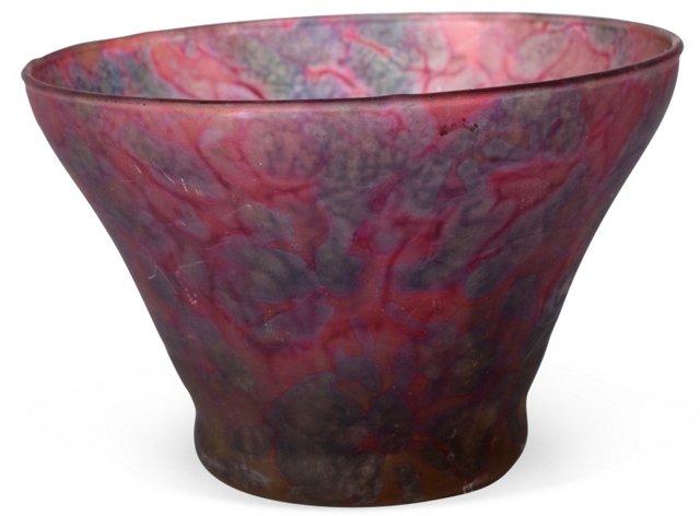 Hand-Blown Glass Art Bowl