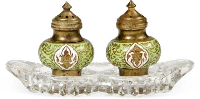Cloisonné Salt & Pepper Shakers
