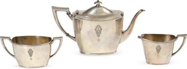 Silverplate Tea Set, Set of 3