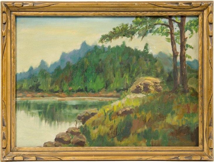 Plein Air Painting of Pond