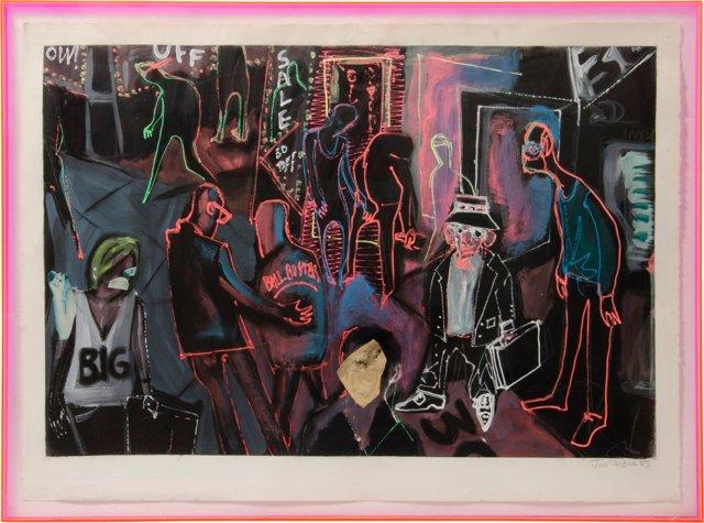 Acrylic Painting by Joe Davis, 1985
