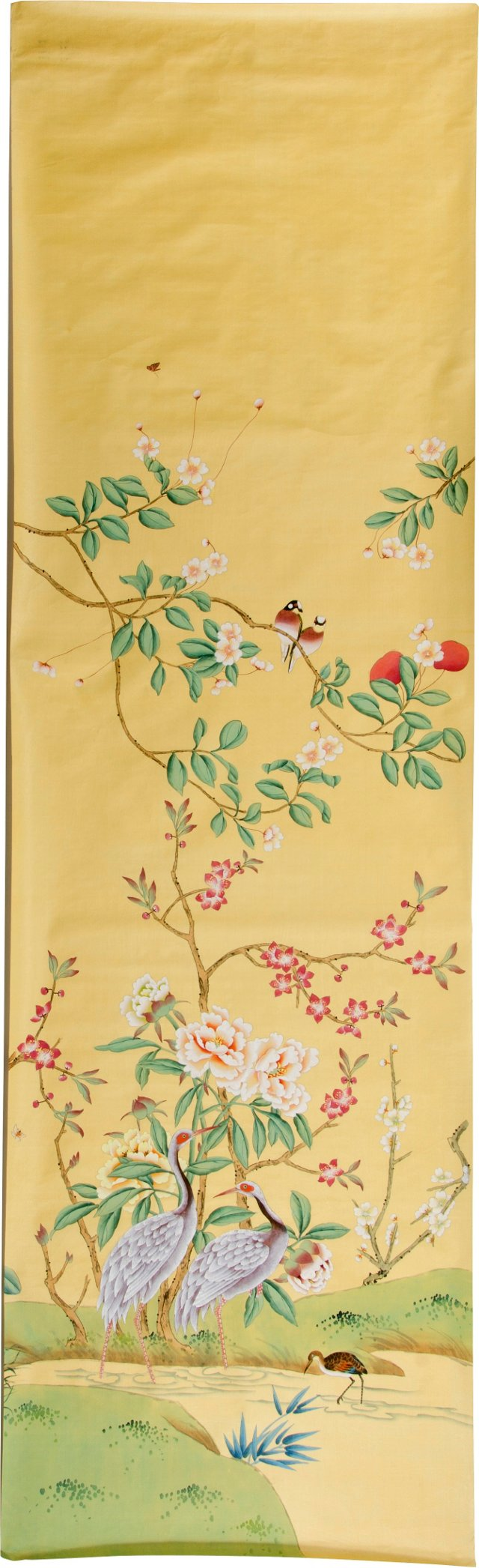 De Gournay Hand-Painted Silk Wall Panel