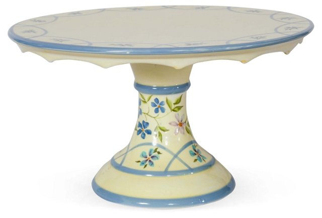 Hand-Painted Porcelain Cake Stand