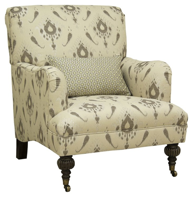 Hadley Chair, Taupe/Cream