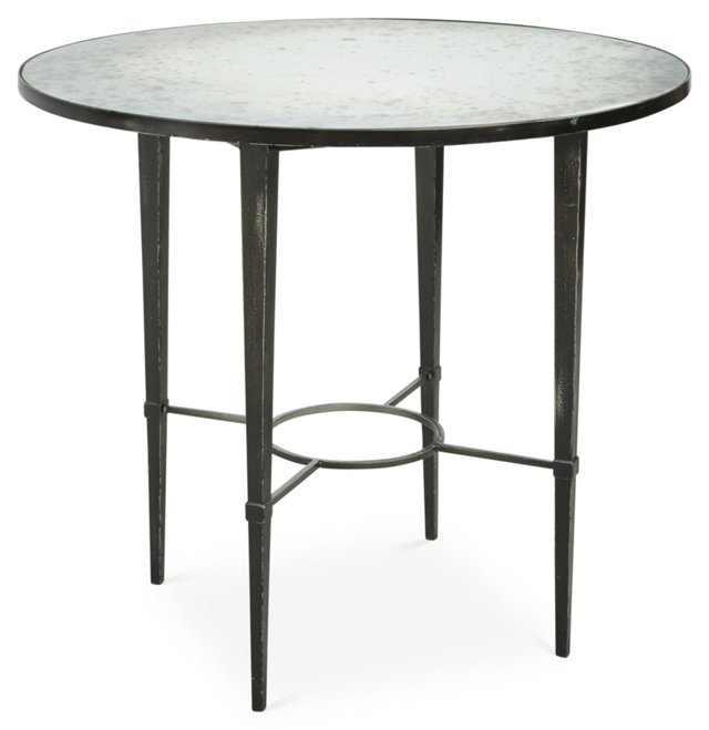 "Ardenay 36"" Round Dining Table, Pewter"