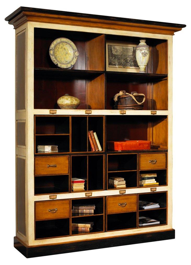 Archivist's Bookcase, Beige/Raw Umber