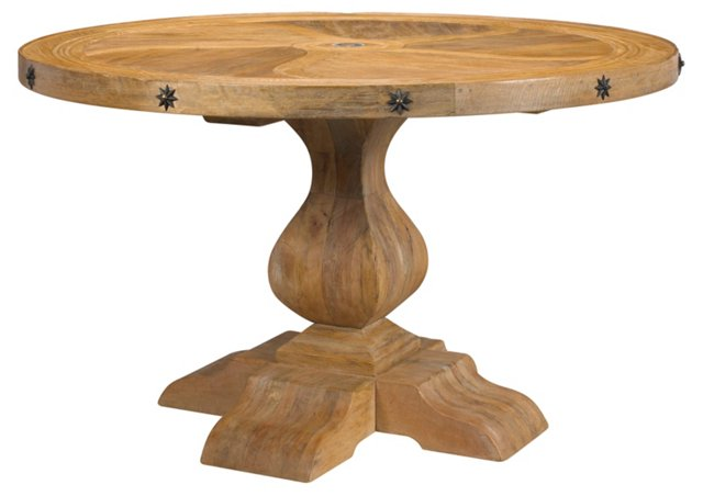 "Tournant 52"" Round Dining Table, Blonde"