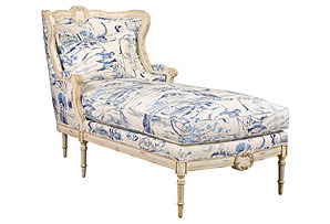 Design icon chaise longue one kings lane for Cameron tufted chaise peacock