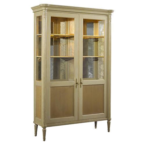 "Savoy 79"" Display Cabinet, Parchment"