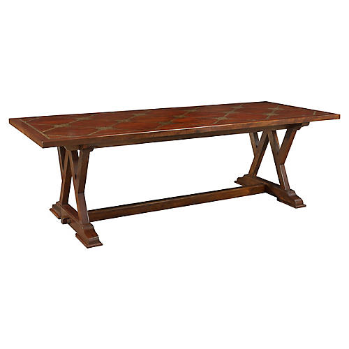 Cordoba Dining Table, Antiqued Cherry