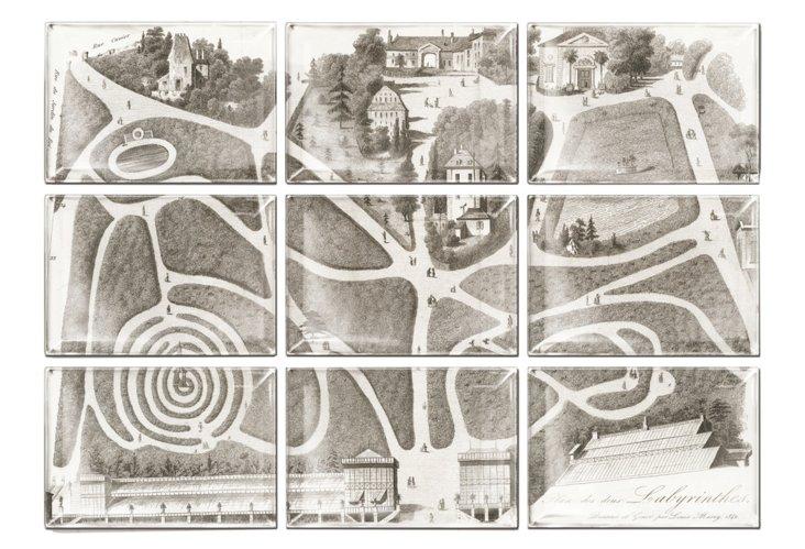 Labyrinth Trays Assemblage Wall Decor