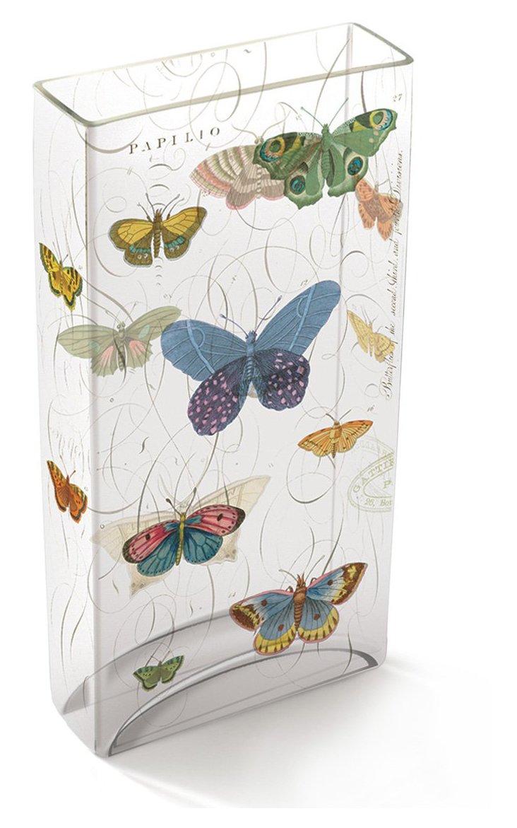 """12"""" Papilio Tiffany Glass Vase"""