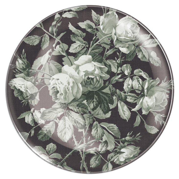 Gray Rose Tray w/ Hanger