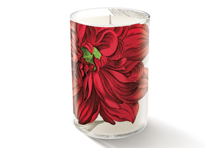S/2 Red Flower Kim Candles