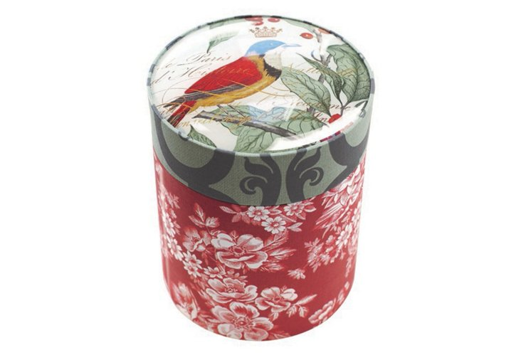Holly Bird Candle w/ Glass Box