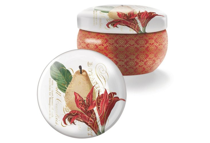 S/2 Pear Brody Tin Candles