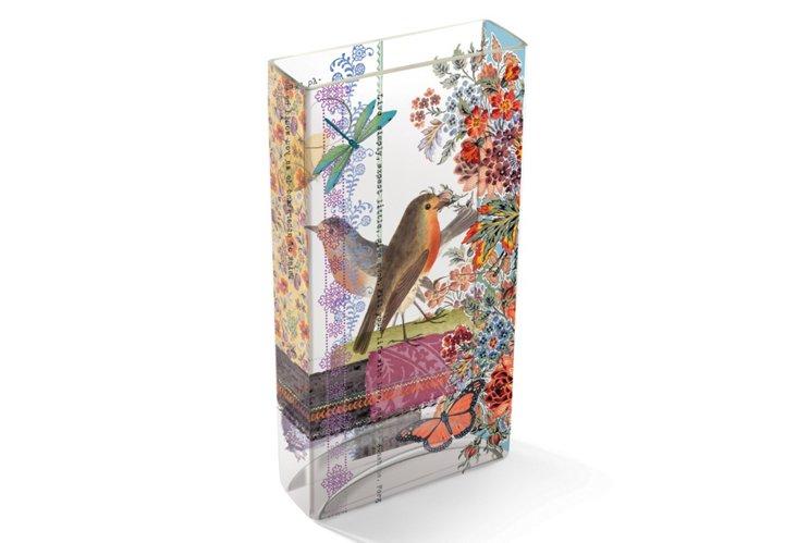 Tiffany Robin Vase