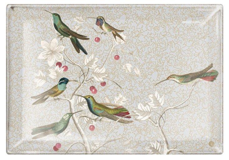 Hummingbirds Rectangular Tray