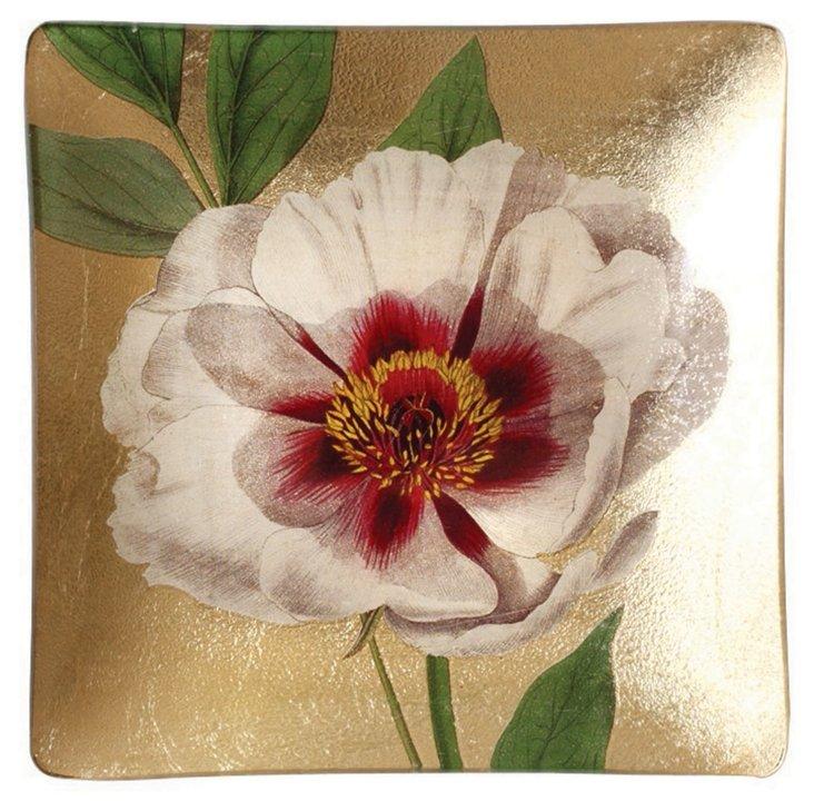 """5"""" White Rose Foil Tray, S/2"""