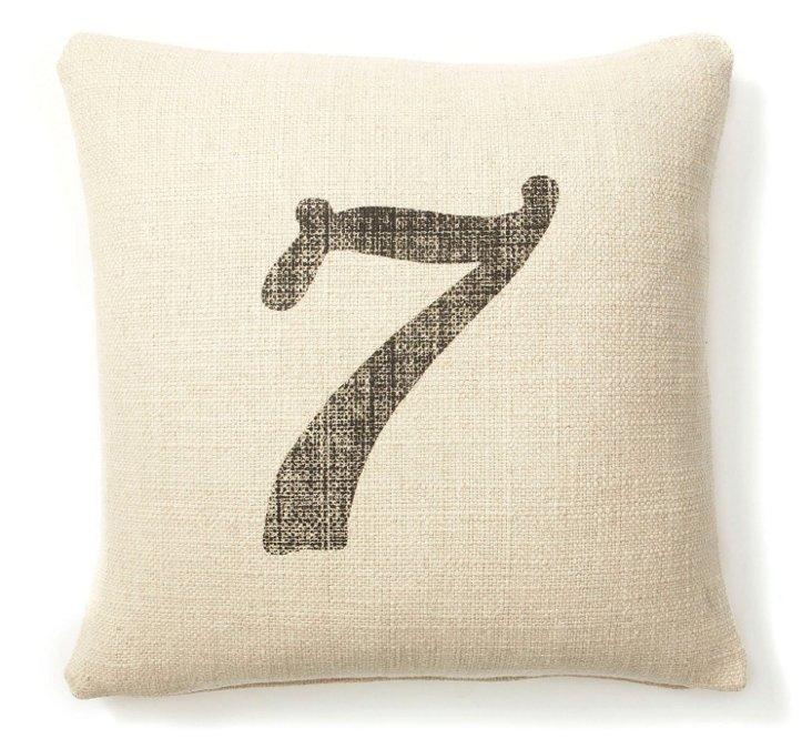#7 20x20 Linen Pillow, Sand