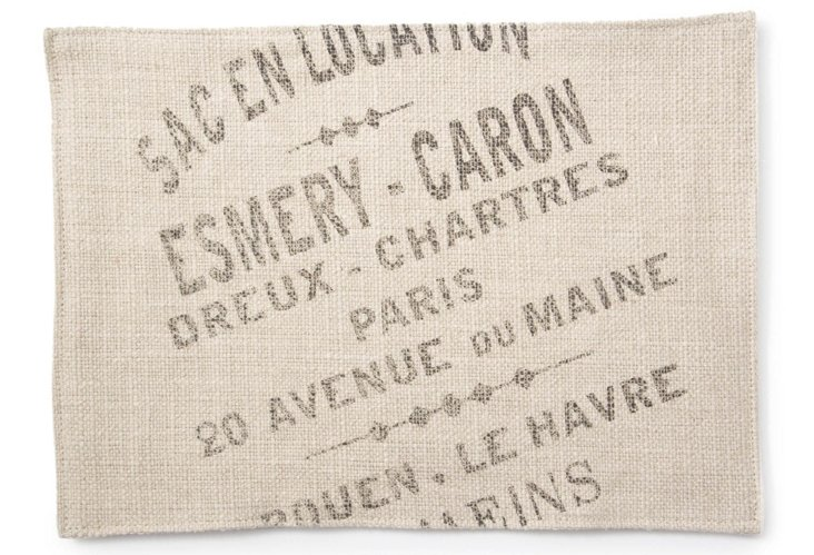 S/4 French Place Mats, Beige
