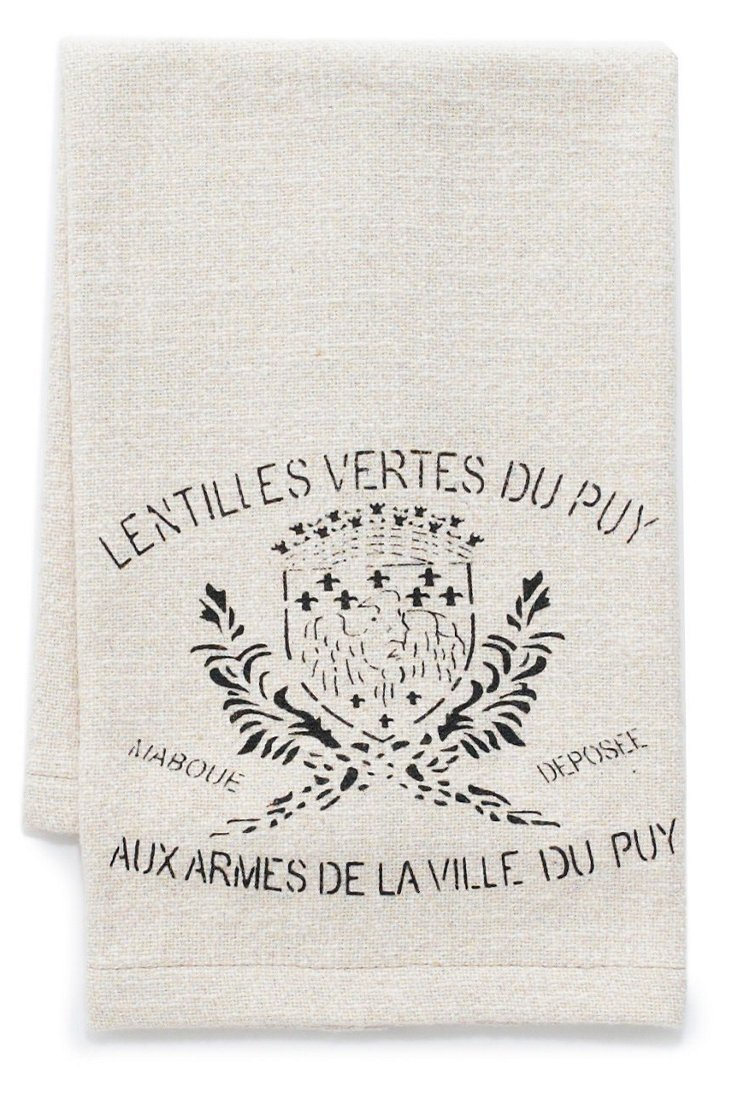 S/3 French Crest Tea Towels, Beige