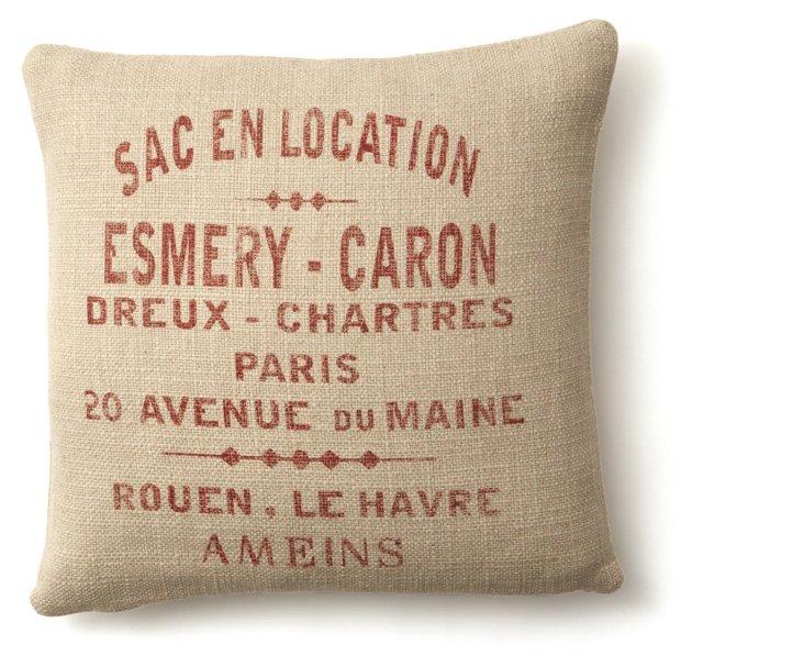 Sac en Location 20x20 Pillow, Red
