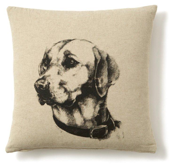 Lab 20x20 Linen-Blend Pillow, Natural