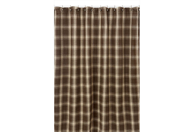 colbert big brown plaid shower curtain french laundry home one