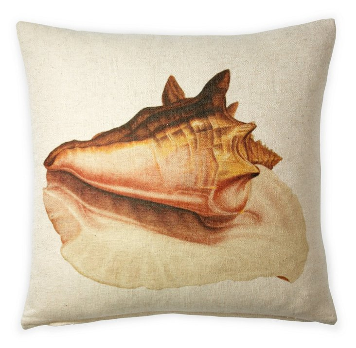 Conch Shell 20x20 Pillow, Natural