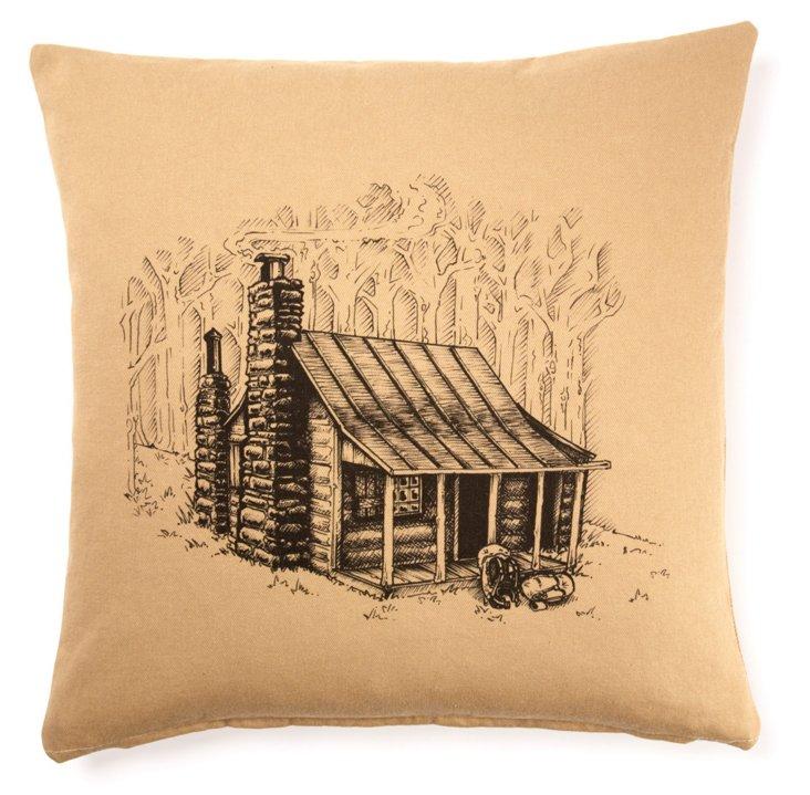Cabin 20x20 Linen/Cotton Pillow, Brown