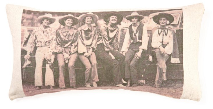 Cowgirl 10x20 Linen/Cotton Pillow, Cream