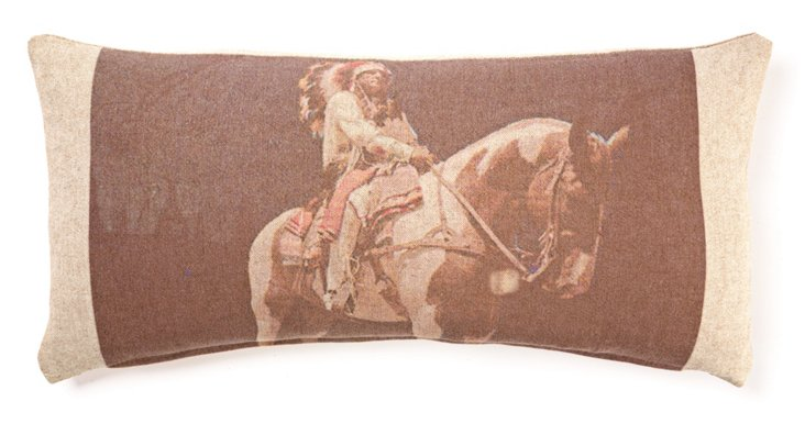 Horse 10x20 Linen/Cotton Pillow, Multi