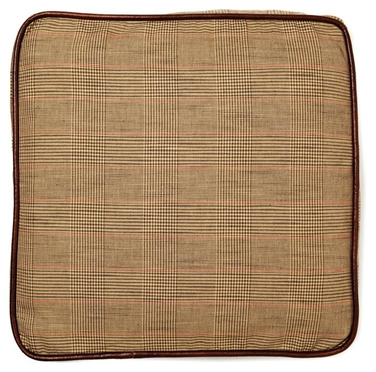 Equestrian 20x20 Cotton Pillow, Brown