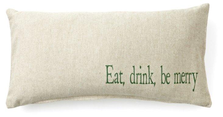 Be Merry 10x20 Pillow, Natural