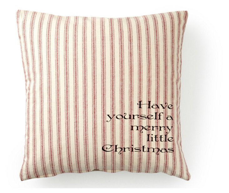 Merry Christmas 20x20 Pillow, Red/White