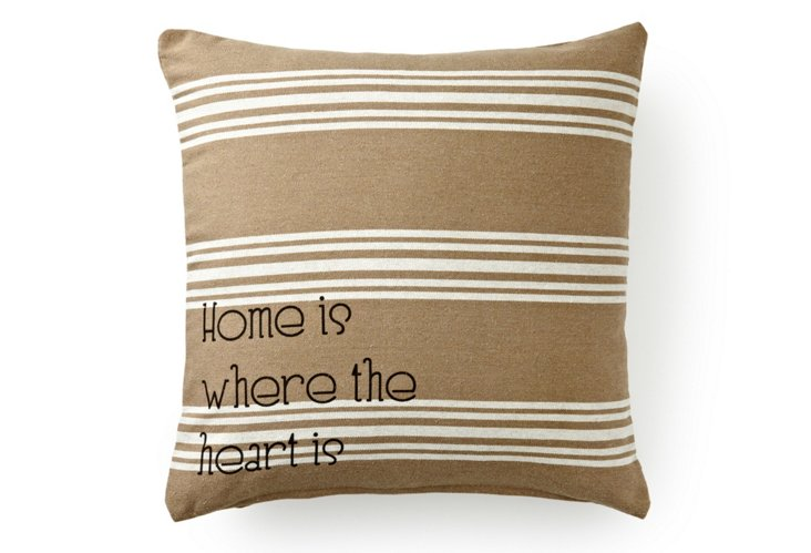 Home Is Where 20x20 Pillow, Brown