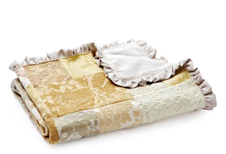 Patch Baby Blanket, Cream