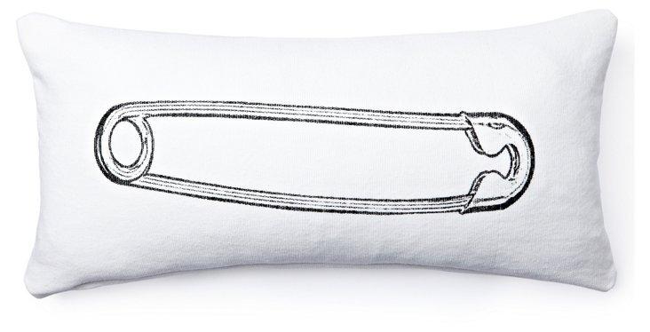 Diaper Pin Pillow, White