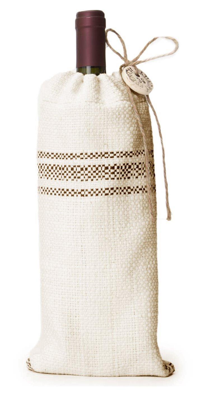 Classic Godiva Stripe Wine Bag